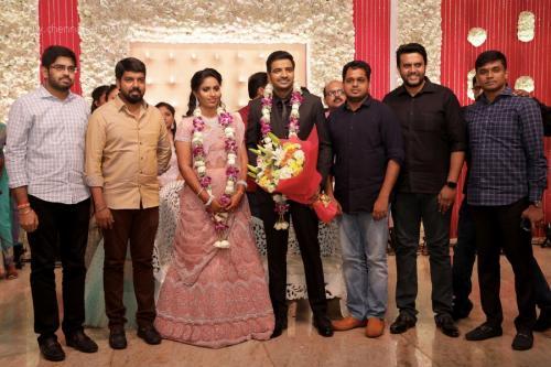 Actor Sathish - Sindhu Wedding Reception Stills 22