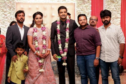 Actor Sathish - Sindhu Wedding Reception Stills 29