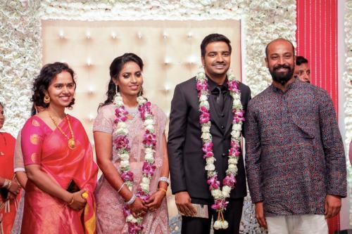 Actor Sathish - Sindhu Wedding Reception Stills 32
