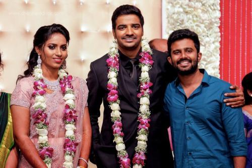 Actor Sathish - Sindhu Wedding Reception Stills 33
