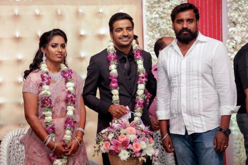 Actor Sathish - Sindhu Wedding Reception Stills 36