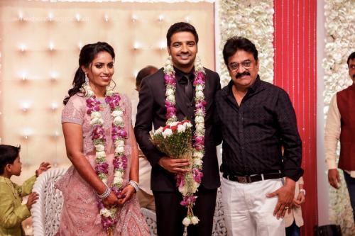 Actor Sathish - Sindhu Wedding Reception Stills 40