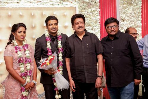 Actor Sathish - Sindhu Wedding Reception Stills 44