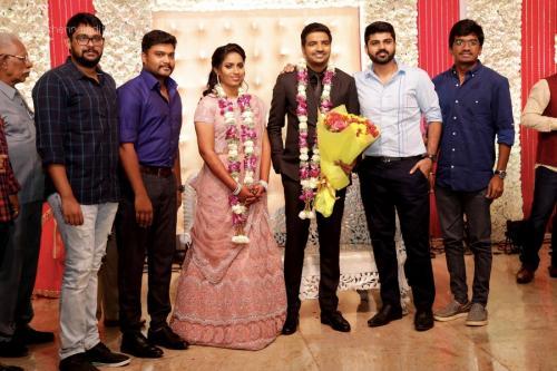 Actor Sathish - Sindhu Wedding Reception Stills 45